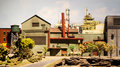 Industrial scene model Royalty Free Stock Images