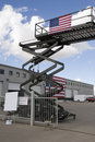 Industrial scissor lift Stock Photos