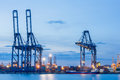 Industrial shipping port or cargo sea of thailand Royalty Free Stock Photography