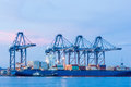 Industrial shipping port or cargo sea of thailand Royalty Free Stock Photos