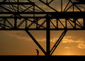 Industrial silhouette the of workers labor Stock Photography