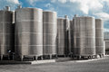 Industrial silos oil storage silo Royalty Free Stock Photos
