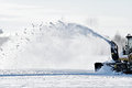 Industrial snow removal machine Royalty Free Stock Photo