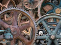 Industrial Steampunk Background, Gears, Wheels