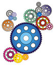 Industrial still life - arrangement of gears, Stock Photo