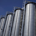 Industrial storage silos Royalty Free Stock Photo