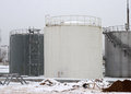 Industrial Storage Tanks Royalty Free Stock Photo