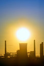 Industrial sunset shoot in spring time Stock Photos