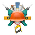 Industrial symbol of tools Royalty Free Stock Images