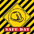 Industrial symbol - World Day for Safety Royalty Free Stock Photo