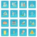 Industrial symbols icon blue app