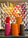 Industrial textile threads Stock Image