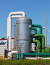 Industrial view of oil petrochemical refinery tanks Stock Photos