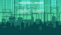Industrial web site header template Royalty Free Stock Photo