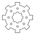industrial wheel cog gear symbol Royalty Free Stock Photo