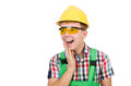 Industrial worker isolated Royalty Free Stock Photo