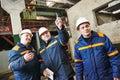 Industrial Workers On House Bu...