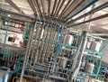 Industrielle Rohrleitungen Stockbild