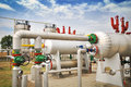 Industries of oil refining and gas Stock Photos