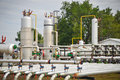 Industries of oil refining and gas Stock Photography