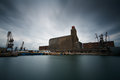 Industries in port of Piraeus, Athens. Royalty Free Stock Photo