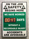 Industrial Job Safety Notice Sign Royalty Free Stock Photo