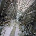 Industriële pijpleidingen Royalty-vrije Stock Foto's