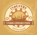 Industry design over vintage background vector illustration Stock Image
