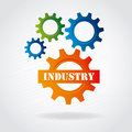Industry gears over gray background vector illustration Stock Photos