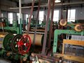 Industry: historic cotton mill machines Stock Photos