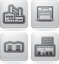Industry Icons: Factory Royalty Free Stock Photography