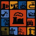 Industry icons set Royalty Free Stock Image