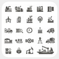 Industry icons set Royalty Free Stock Photo