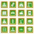 Industry icons set green
