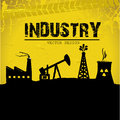 Industry label over yellow background vector illustration Royalty Free Stock Images