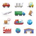 Logistika sada skladajúca sa z ikon