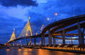 Industry Ring Suspending bridge Bangkok, Thailand Royalty Free Stock Photo