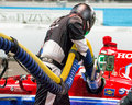 Indy Car Fuel Pit Stop Royalty Free Stock Photo