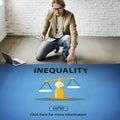 Inequality imbalance victims prejudice bias concept Royalty Free Stock Photography