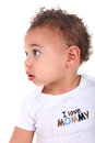 Infant Baby Boy on White Background Stock Image