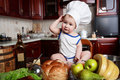 Infant cook Royalty Free Stock Photo