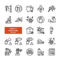 Infection and virus icon set