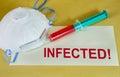 Infekterat tecken Arkivbild