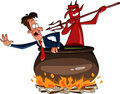 Infernal cauldron Royalty Free Stock Photo