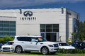 Infinit automobile dealership los angeles ca usa july infiniti sign and logo infiniti is the luxury vehicle division of japanese Stock Photography
