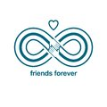 Infinite friendship, friends forever, special vector logo combin