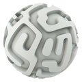 Infinite sphere maze Royalty Free Stock Photo