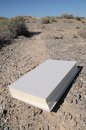 Infinity learning empty book on a road in the desert Stock Photography
