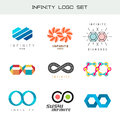 Infinity logo set. Infinity color symbols. Royalty Free Stock Photo