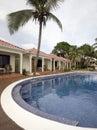 Infinity swimming pool nicaragua Royalty Free Stock Photo